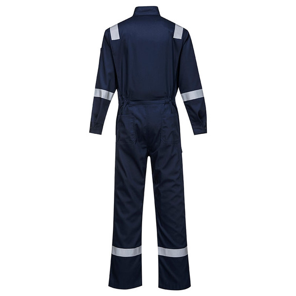 PortWest FR Bizflame Iona Unlined Coverall FR94 Navy Back