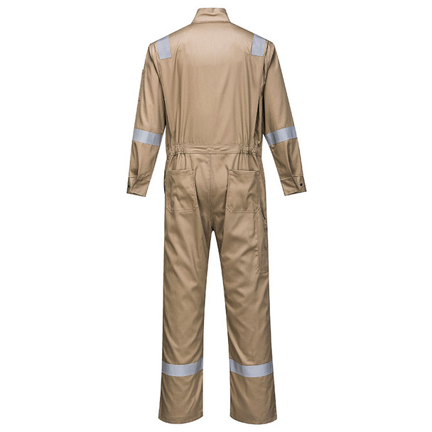 PortWest FR Bizflame Iona Unlined Coverall FR94 Khaki Back