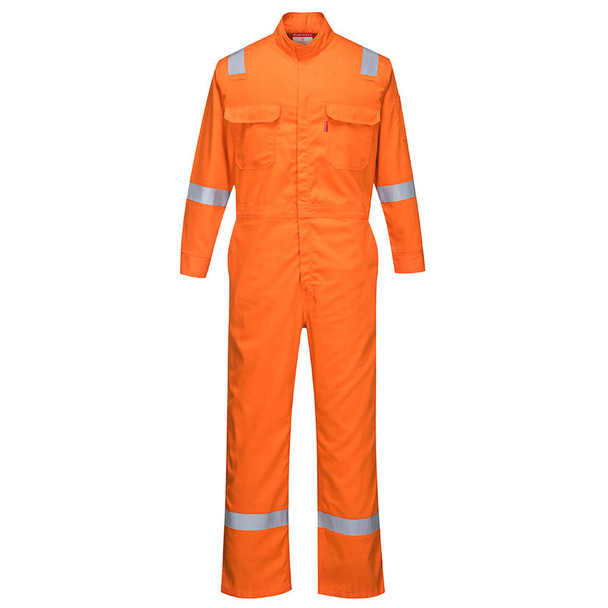 PortWest FR Bizflame Iona Unlined Coverall FR94 Orange Front