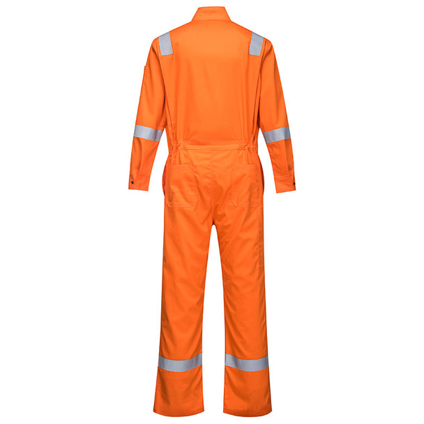 PortWest FR Bizflame Iona Unlined Coverall FR94 Orange Back