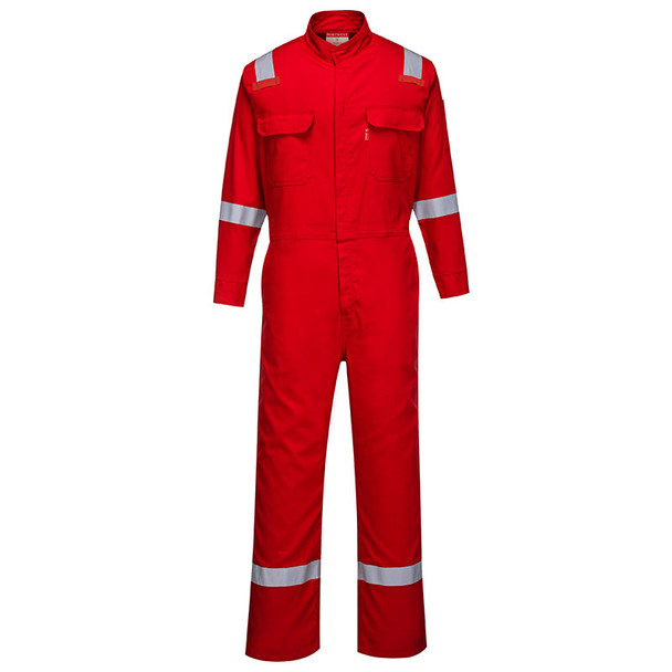 PortWest FR Bizflame Iona Unlined Coverall FR94 Red Front