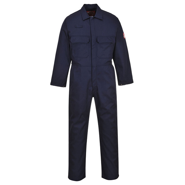 PortWest Flame Resistant Navy Bizweld Unlined Coveralls UBIZ1NA