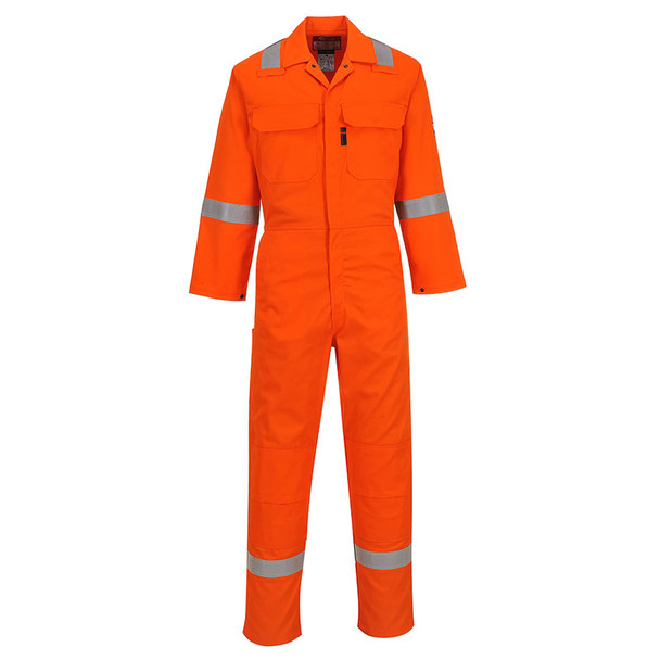 PortWest FR Non-ANSI Hi Vis Orange Bizweld Iona Unlined Coverall UBIZ5OR