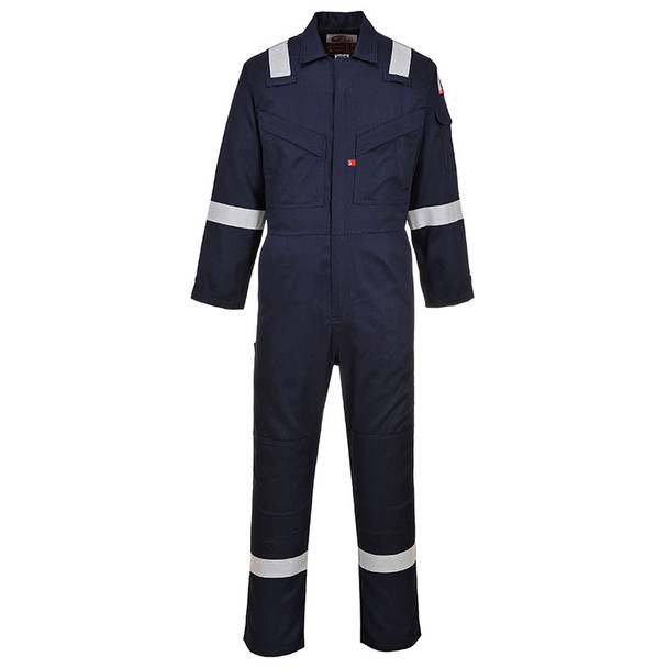 PortWest FR Super Light Weight Anti-Static Navy Unlined Coverall UFR21NA