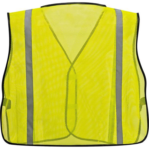 PortWest Non ANSI Yellow Mesh Vest US390 Back
