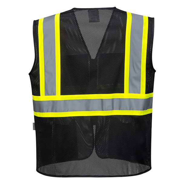 PortWest Enhanced Visibility Iona Xtra Mesh Vest US391 Back