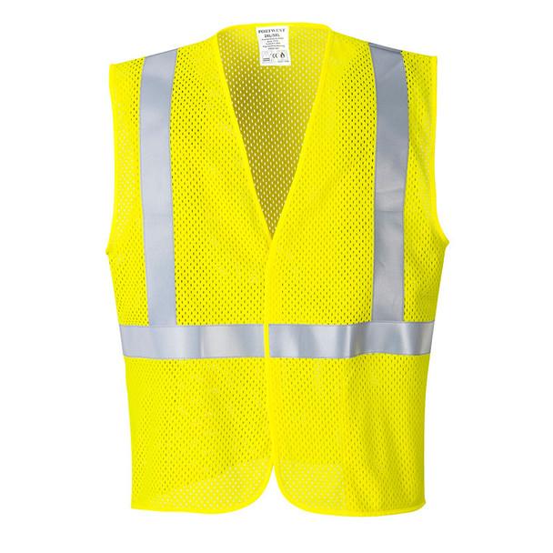 PortWest FR Class 2 Hi Vis Yellow Mesh Vest UMV21 Front