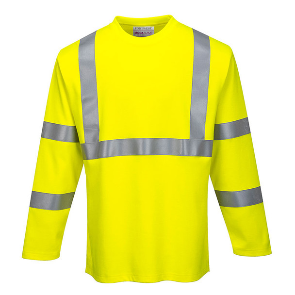 Portwest FR Class 3 Hi Vis Long Sleeve T-Shirt FR96 Front