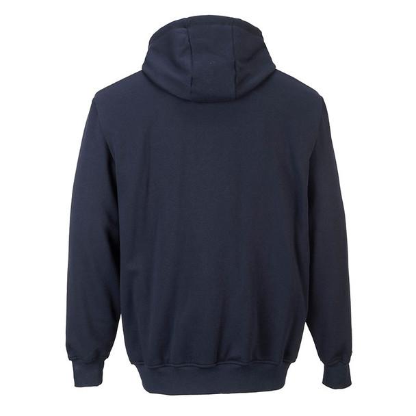 PortWest FR Zipper Front Hooded Sweatshirt UFR81 Back