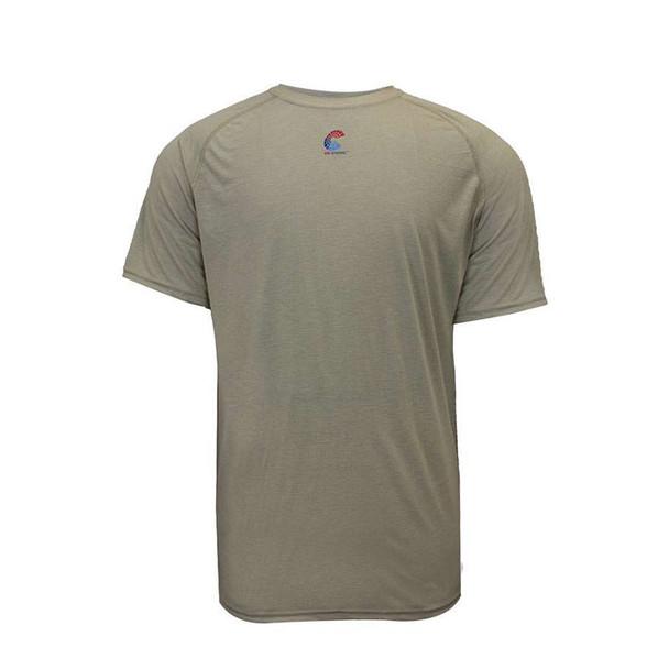 NSA FR Short Sleeve Moisture Wicking Khaki Made in USA T-Shirt C51FRSR