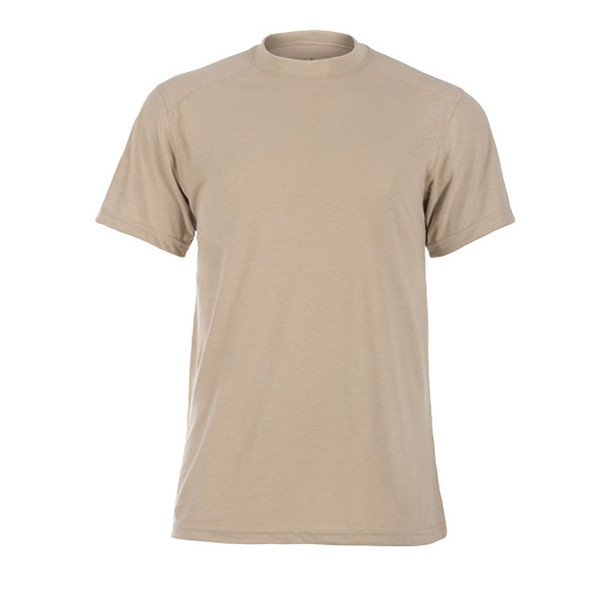 DragonWear FR Moisture Wicking Tan Made in USA T-Shirt DFDS127 Front