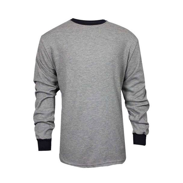 TECGEN FR Select Moisture Wicking Long Sleeve Grey Made in USA T-Shirt C541NGELS