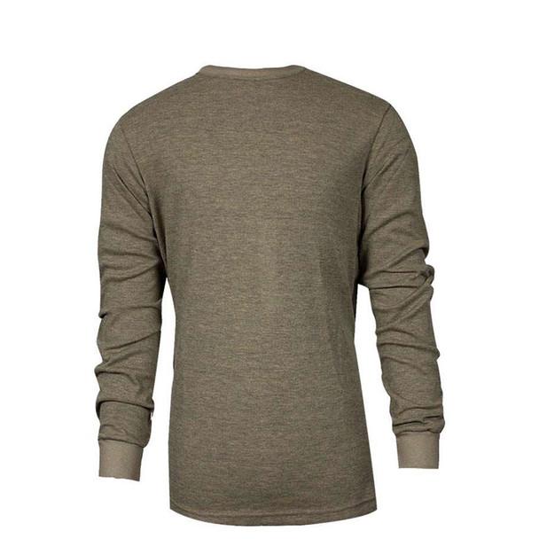 TECGEN FR Moisture Wicking Long Sleeve Tan Made in USA T-Shirt C541NTNLS
