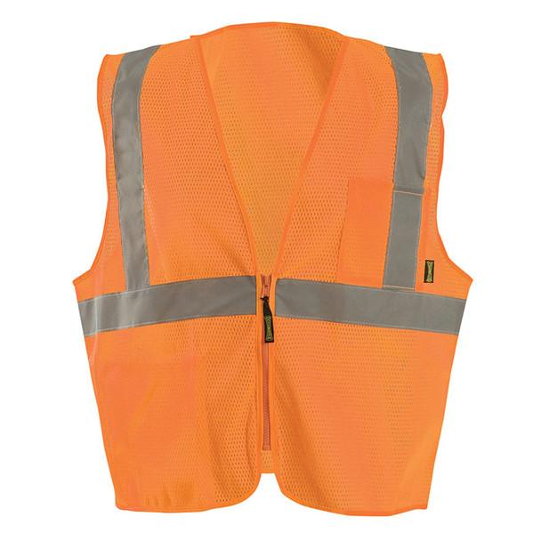 Occunomix Class 2 Hi Vis X-Back Vest with Zipper ECO-IMZX Orange Front