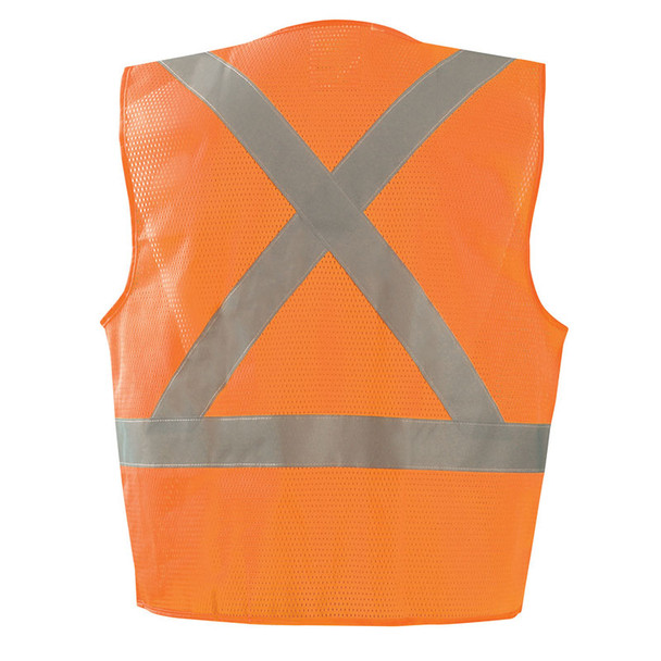 Occunomix Class 2 Hi Vis X-Back Vest with Zipper ECO-IMZX Orange Back