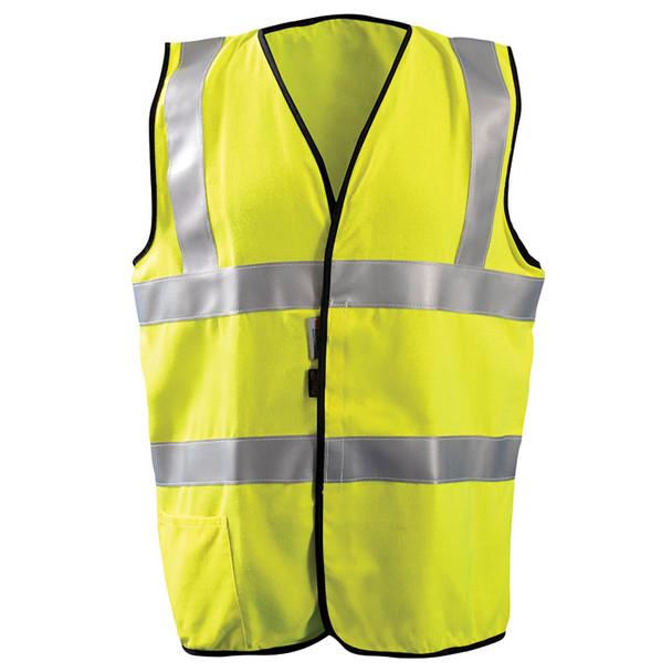 Occunomix FR Class 2 Hi Vis Yellow Premium Solid Vest FR-VM1122 Front