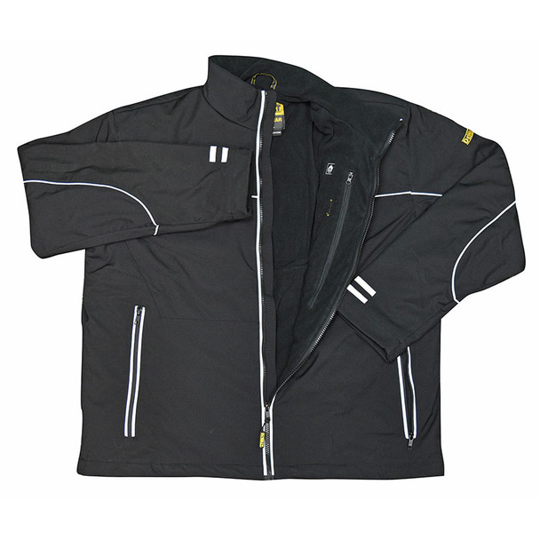 DeWALT Heated Lightweight Soft Shell Black Work Jacket with Adapter DCHJ072B Jacket