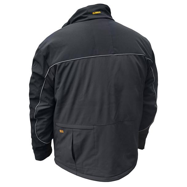DeWALT Heated Lightweight Soft Shell Black Work Jacket with Adapter DCHJ072B Back