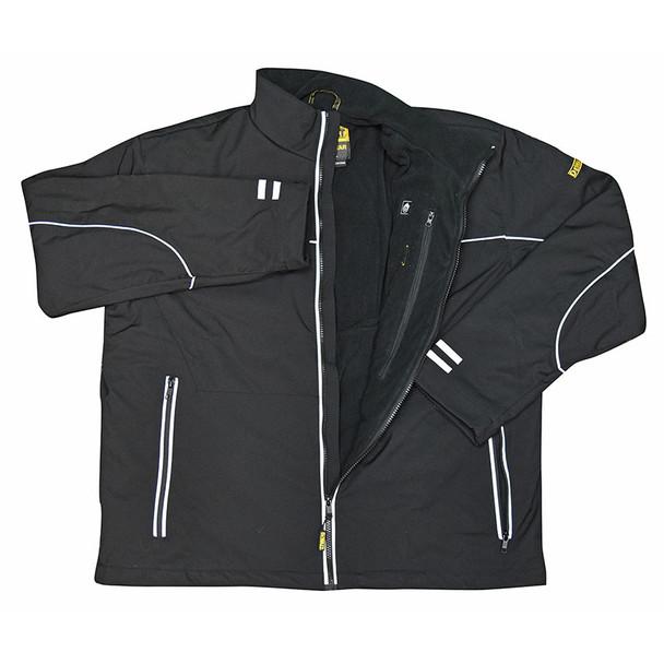 DeWALT Heated Lightweight Soft Shell Black Work Jacket Kit DCHJ072D1 Jacket