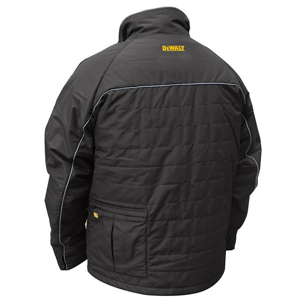 DeWALT Heated Quilted Black Work Jacket with Adapter DCHJ075B Back