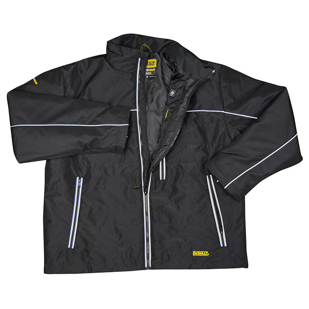 DeWALT Heated Quilted Black Work Jacket with Adapter DCHJ075B Jacket