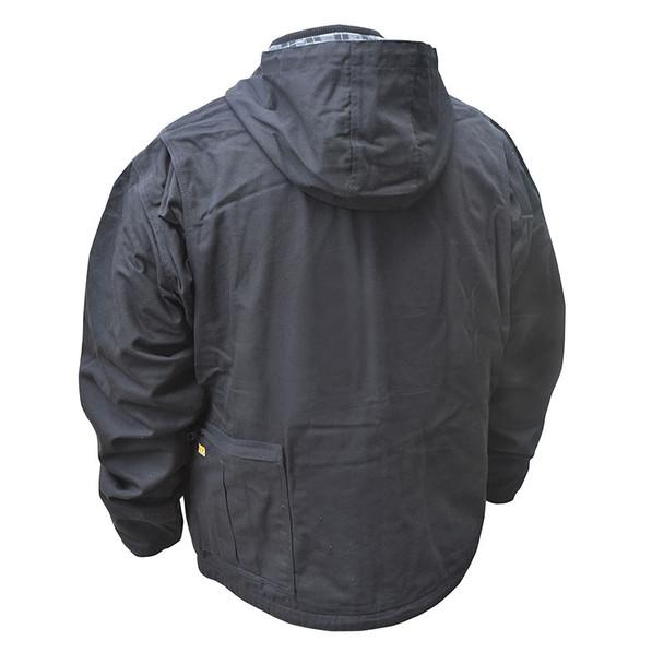 DeWALT Heated Heavy Duty Black Work Jacket with Adapter DCHJ076ABB Back