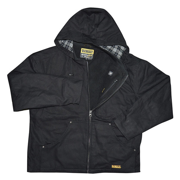 DeWALT Heated Heavy Duty Black Work Jacket with Adapter DCHJ076ABB Jacket