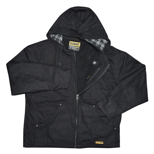 DeWALT Heated Black Heavy Duty Work Jacket Kit DCHJ076ABD1 Front