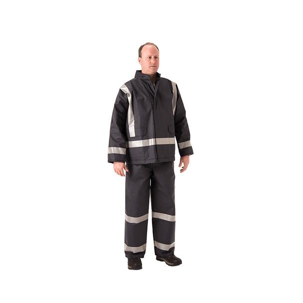 NASCO FR X-Back Enhanced Visibility Navy PetroStorm Jacket 1801JN110 Jacket (Pants Sold Separately)