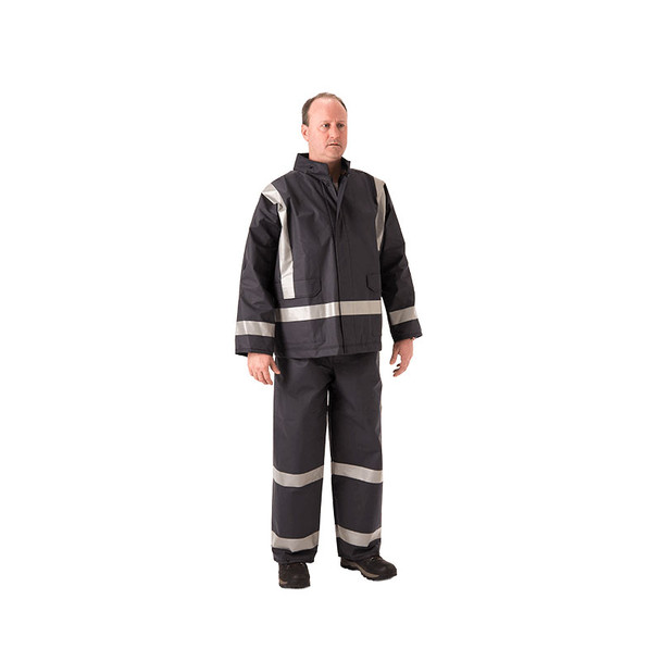 NASCO FR X-Back Enhanced Visibility Navy PetroStorm Made in USA Jacket 1801JN110 (Pants Sold Separately)