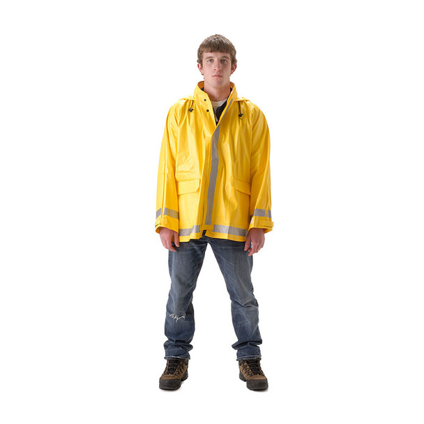 NASCO FR Enhanced Visibility Yellow ArcLite Rain Jacket 1103JY