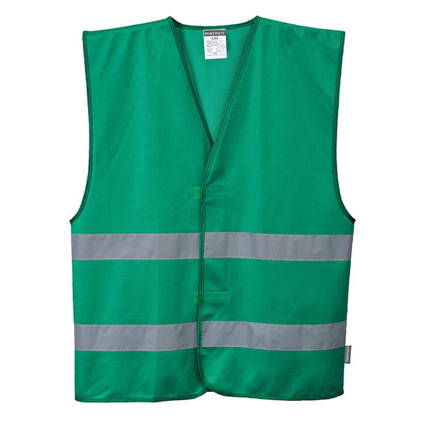 PortWest Enhanced Visibility Iona Bottle Green Safety Vest F474GR