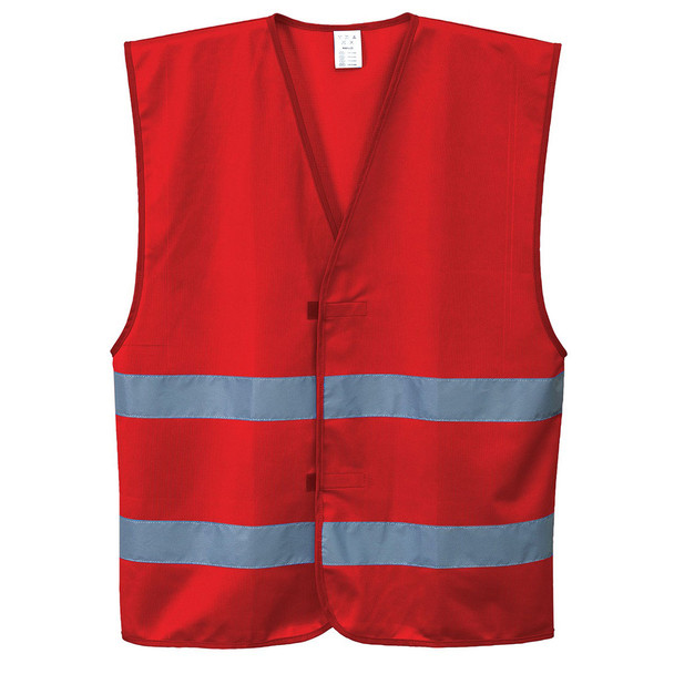 PortWest Enhanced Visibility Iona Red Safety Vest F474RE