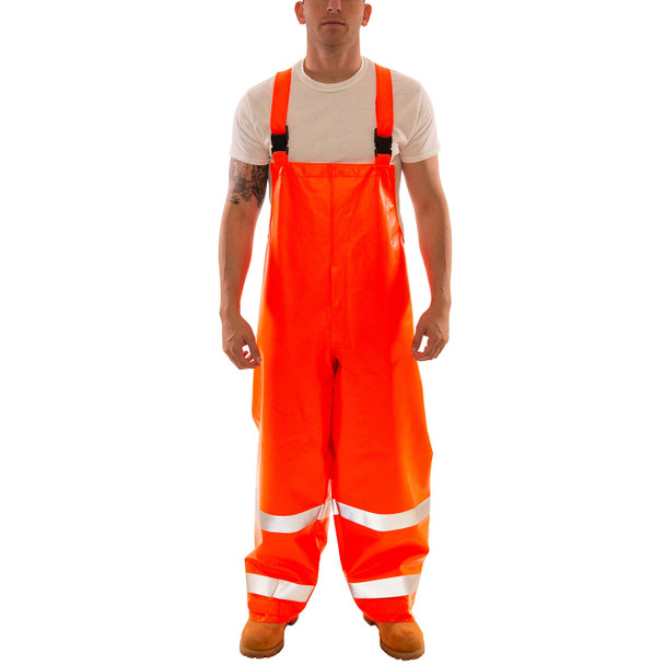 Tingley FR Class E Hi Vis Orange Eclipse Rain Overalls O44129 Front