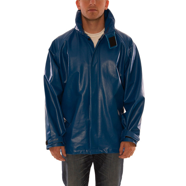 Tingley FR Industrial Blue Eclipse Rain Jacket J44241 Front
