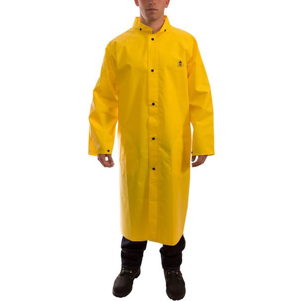 Tingley ASTM D6413 Industrial Yellow DuraScrim Raincoat C56207 Front