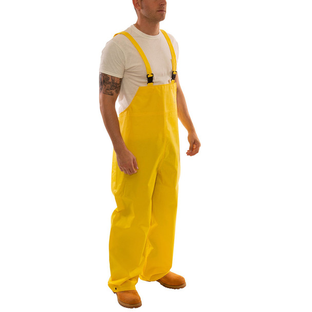 Tingley ASTM D6413 Industrial Yellow DuraScrim Rain Overalls O56007 Side