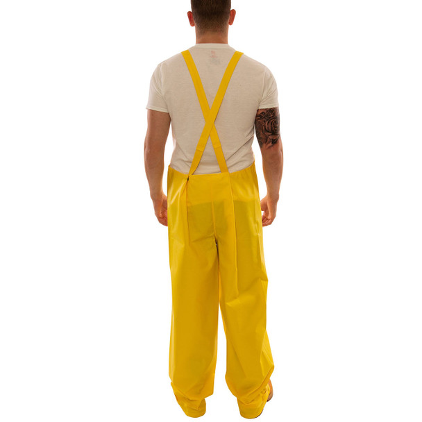 Tingley ASTM D6413 Industrial Yellow DuraScrim Rain Overalls with Fly Front O56107 Back