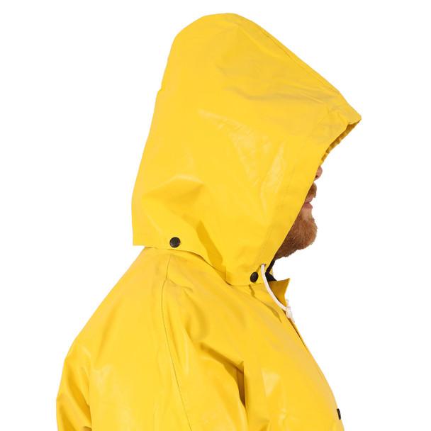 Tingley ASTM D6413 Industrial Yellow Magnaprene Chem Splash Hood H12107 Side