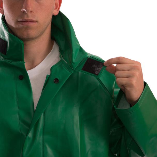 Tingley ASTM D6413 SafetyFlex Green Chem Splash Jacket J41008 Collar