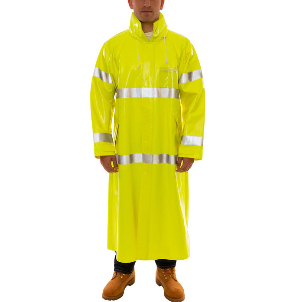 Tingley Class 3 Hi Vis Yellow Comfort-Brite Raincoat C53122 Front