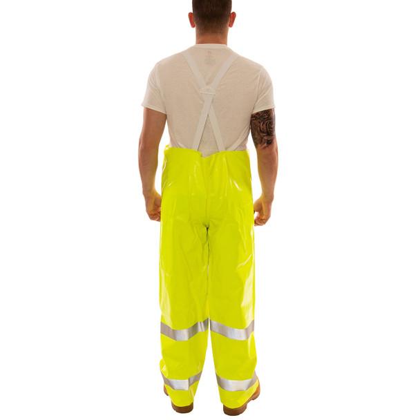 Tingley Class E Hi Vis Yellow Comfort-Brite Rain Overalls O53122 Back