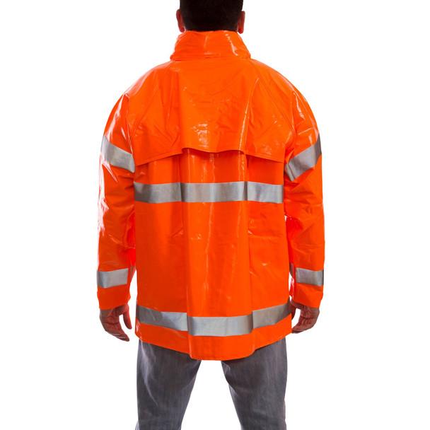 Tingley Class 3 Hi Vis Orange Comfort-Brite Rain Jacket J53129 Back