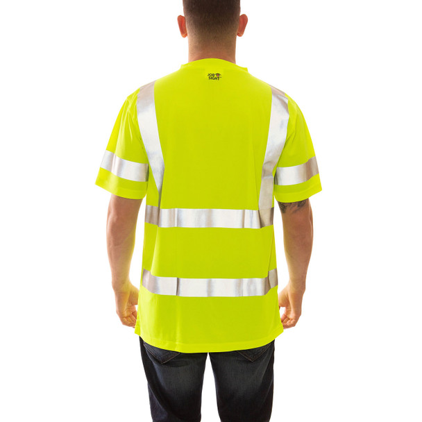 Tingley Class 3 Hi Vis Yellow Moisture Wicking Job Sight T-Shirt S75322 Back