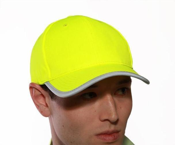 Tingley Enhanced Visibility Yellow Job Sight Baseball Hat H70222