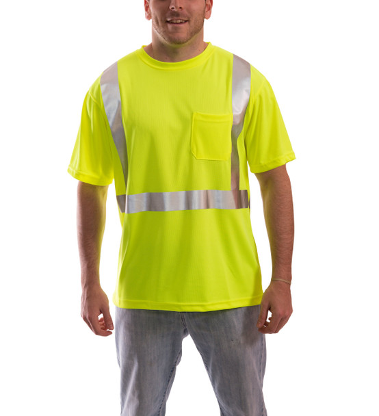 Tingley Class 2 Yellow Moisture Wicking Job Sight T-Shirt with Pocket S75022 Front
