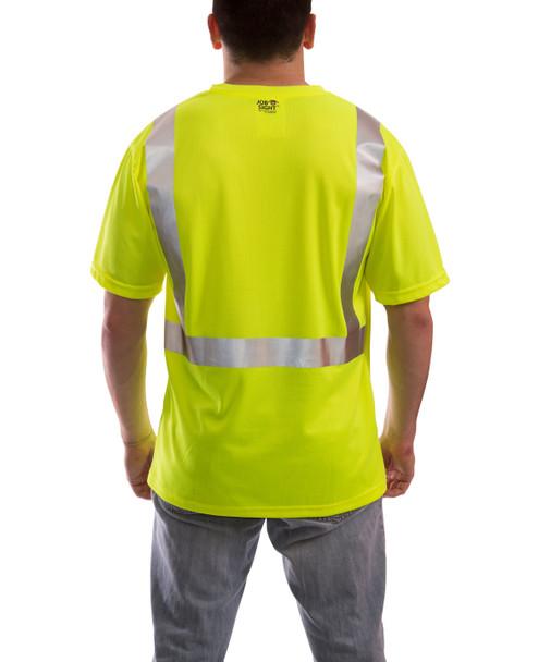 Tingley Class 2 Yellow Moisture Wicking Job Sight T-Shirt with Pocket S75022 Back