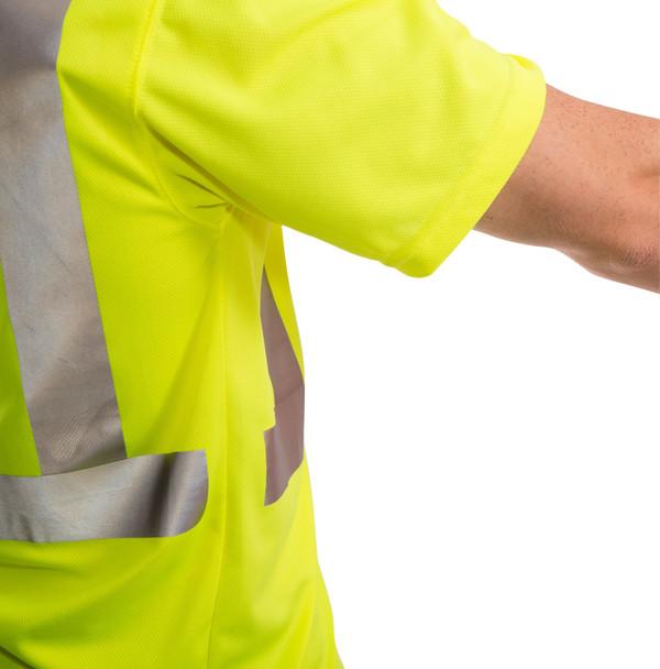 Tingley Class 2 Yellow Moisture Wicking Job Sight T-Shirt with Pocket S75022 Tape