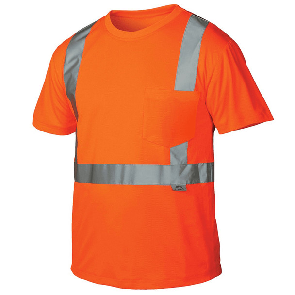 Pyramex Class 2 Hi Vis Orange T-Shirt RTS2120 Front
