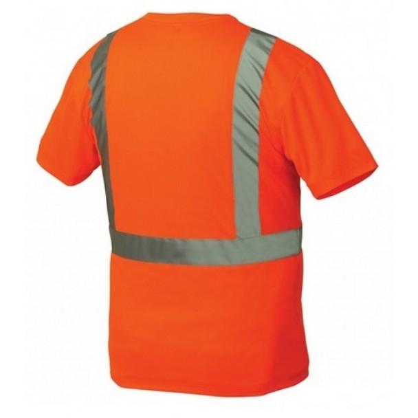 Pyramex Class 2 Hi Vis Orange Black Bottom Moisture Wicking T-Shirt RTS2120B Back